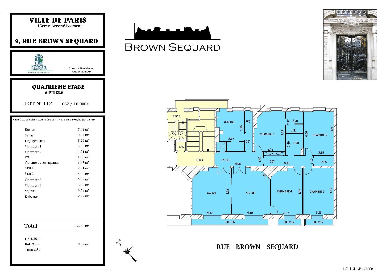 brown sequard vente la d coupe. Black Bedroom Furniture Sets. Home Design Ideas